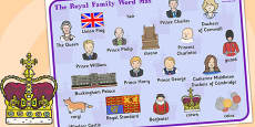 Royal Family Word Mat