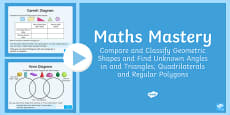 Year 6 Geometry Shape Compare and Classify Geometric Shapes Maths Mastery Activities PowerPoint PowerPoint