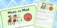 Mean vs Mad Activity Sheet