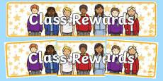 Class Rewards Display Banner