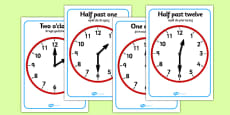 O'clock and Half Past on Clocks Polish Translation