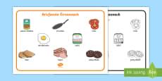 Bricfeasta Éireannach   Irish Breakfast Word Mat Gaeilge