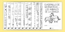 Cuadernillo de matemáticas - en la granja