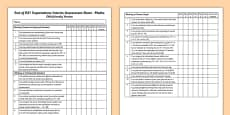 End of KS1 Expectations Interim Assessment Tracking Sheet - Maths (Child Friendly Version)
