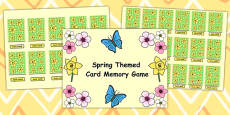 Spring Themed Card Matching Flipchart Game