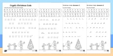 Cryptic Christmas Code Mixed Operations Activity Sheet