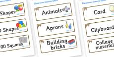 Bobcat Themed Editable Classroom Resource Labels