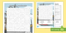 * NEW * CfE - Geography - Scottish Landmarks Word Search