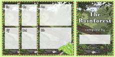 Rainforest Glossary Writing Template Booklet