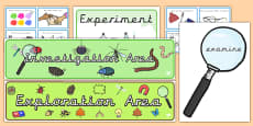 EYFS Investigation Area Classroom Set Up Pack Precursive