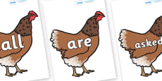 Tricky Words on Hens
