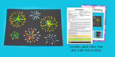 Firework Printing EYFS Adult Input Plan and Craft Pack