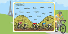 Tour de France Word Mat
