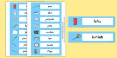 Classroom Objects Labels Te Reo Māori