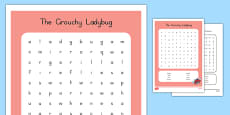 The Grouchy Ladybug Word Search