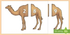 * NEW * Camel Number Bonds to 10 Matching Cards