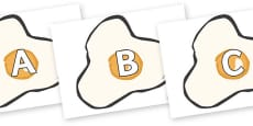 A-Z Alphabet on Fried Eggs