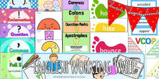 KS2 English Working Wall Display Pack