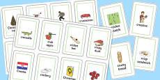 Three Syllable CR Flash Cards