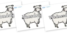 Days of the Week on Small Billy Goats