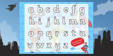 Superhero Themed Letter Writing Activity Sheet