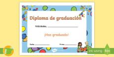 * NEW * Diploma: Graduación