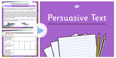 Persuasion Text Read, Record and Present Information PowerPoint UKS2