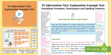 Y4 Information Texts: Explanation Model/Example Text
