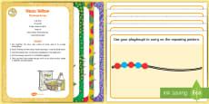 * NEW * Patterns Playdough Recipe and Mat Pack