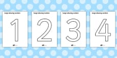 Colouring Numbers (0-9)