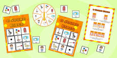 d Sound Bingo Game with Spinner