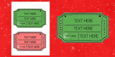 Christmas Fair Editable Ticket