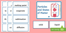 Particles and States of Matter Word Wall