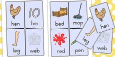 CVC Word Cards E