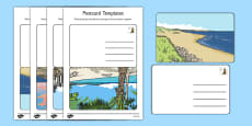 Post Office Post Card Templates