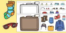 Pack a Suitcase Cut and Stick Activity