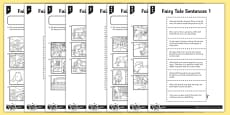 Fairy Tale Sentences (1) Differentiated Activity Sheet Pack