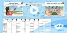 * NEW * PlanIt Y3 Measurement Lesson Pack Money (1)