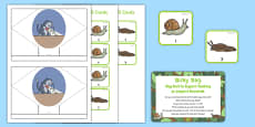 Slug Hunt Busy Bag Prompt Card and Resource Pack to Support Teaching on Jasper's Beanstalk