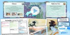 PlanIt - Art UKS2 - The Seaside Lesson 6: Finishing Fish Lanterns Lesson Pack