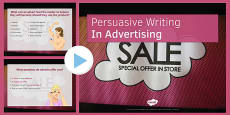 Persuasive Writing in Advertising PowerPoint