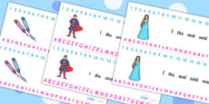 Combined Alphabet and Number Strips (Toys)