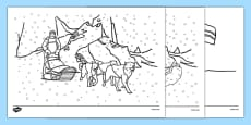 Scott of the Antarctic Colouring Sheets