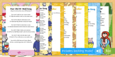 Songs and Rhymes Resource Pack to Support Teaching on Mr Wolf's Pancakes
