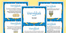 Hanukkah Display Fact Cards Polish Translation