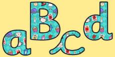 Alice in Wonderland Size Editable Display Lettering