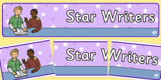 Star Writers Display Banner