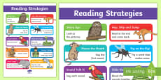 Guided Reading Strategies Display Poster
