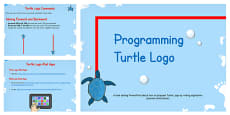 Programming Turtle Logo Writing Algorithms PowerPoint Lesson 1