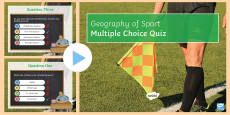* NEW * Geography of Sport PowerPoint Quiz